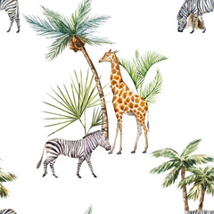 Watercolor afriacnan pattern