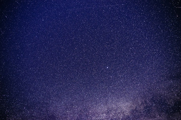 Background of starry purple night sky with the Milky Way