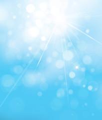 Vector blue lights  background. Sky background.