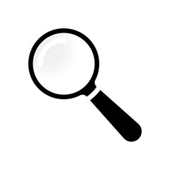 Transparent Lupe Icon Isolated on White