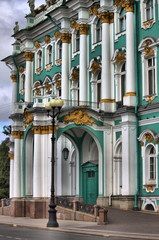 Facade of the Winter Palace in Saint Petersburg, Russia
