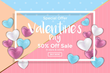 Valentines day card or Sale Banner