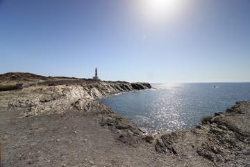 phare de favaritx, minorque, îles baléares, côte nord
