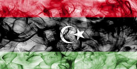 Libya smoke flag