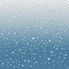 vector Water drops on glass. rain drops