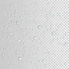 vector Water drops on glass. rain drops