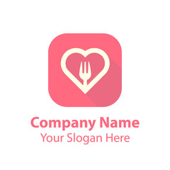 Love food logo design, food logo design