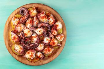 Pulpo a la gallega, traditional Spanish Galician dish