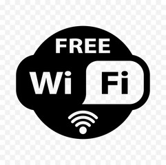 free wifi sticker, free wi-fi icon, free wi fi label sign