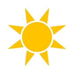Sun icon isolated on white background. Vector stock.