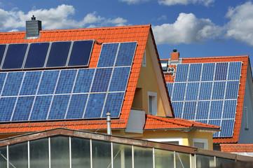 Solaranlage, auf einem Wohngebäude