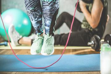 Fitness Sport (Seil Springen).