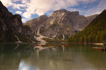 Lake Lago di Braies, Dolomites, Italy