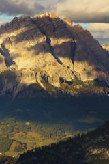 Viwe of a peak of Monte Cristallo, Dolomites, Italy