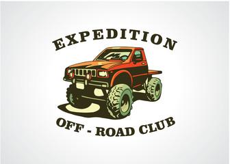 Extreme Off Road Logo Template Design Vector, Emblem, Design Concept, Creative Symbol, Icon