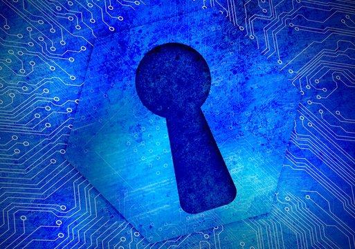 Keyhole on circuit board