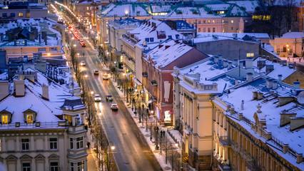 Vilnius Cityscape Skyline Lithuania Eastern Europe