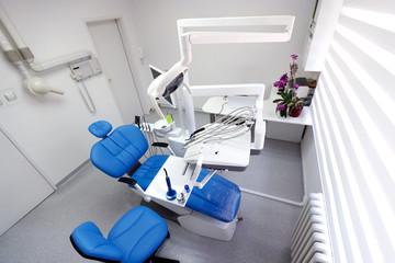 Top view of clean modern dental ordination
