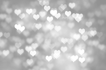 Heart shapes bokeh background