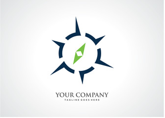 Compass Arrow Logo Template Design Vector, Emblem, Design Concept, Creative Symbol, Icon
