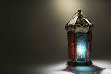Traditional Lantern with light from behind