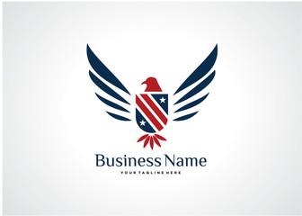 American Eagle Logo Template Design Vector, Emblem, Design Concept, Creative Symbol, Icon