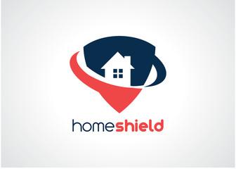 Home Shield Logo Template Design Vector, Emblem, Design Concept, Creative Symbol, Icon