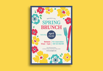 Spring Brunch Flyer