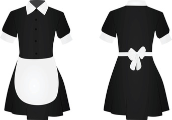Maid uniform. vector illustration