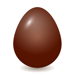 Easter holiday. Chocolate egg. Isolated on white background. Vector