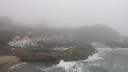 Biarritz sous la brume