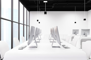 White office interior side view