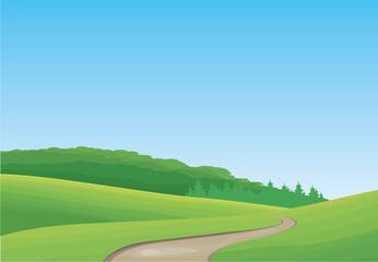Idyllic Landscape - Illustration
