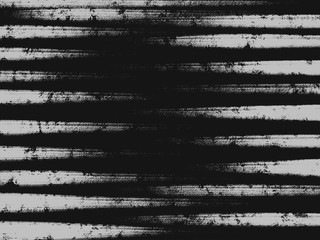 Colorful hand drawn gray abstract chalk texture stripe on black background, illustration of horizontal lines painted by pencil paper chalk on canvas for wallpaper, high quality