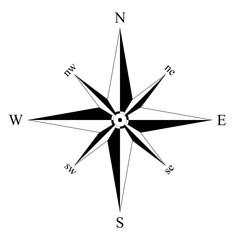Kompass oder Windrose auf isolierten weißen hintergrund als Vektor in eps oder ai