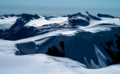 Galdhøpiggen - Norway's highest mountain - seen from Glittertind. Jotunheimen, Norway