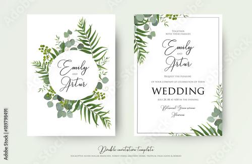 Wedding Invitation Floral Invite Thank You Rsvp Modern Card Design