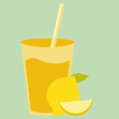 Healthy natural cocktail drink with sweet yellow lemon. Fresh organic citrus smoothie.