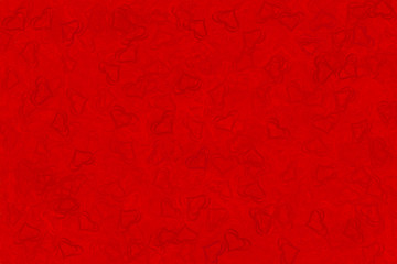 red background of red hearts for screensavers and postcards and wallpapers for Valentine's Day
