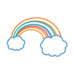 clouds with rainbow icon