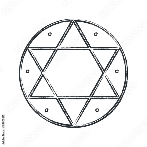 Vector Magical Symbol Hexagram Seal Of Solomon The Signet Ring