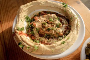 plate of humus