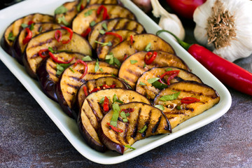 Grilled Marinated Eggplant slices