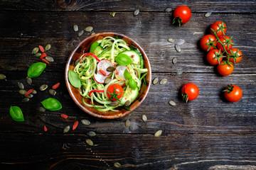 gurkensalat draufsicht