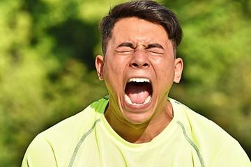 Fit Male Athlete Under Stress