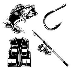 Fishing set isolated 1