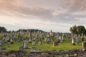 Large Graveyard in the Country Wall mural