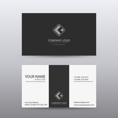Modern Creative and Clean Business Card Template with dark color . Fully editable vector.