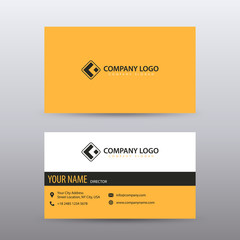Modern Creative and Clean Business Card Template with yellow Black color . Fully editable vector.