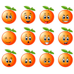 orange with different emoticon